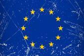 Grunge flag country - EU — Stock Vector