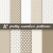 Collection seamless pretty backgrounds — Stock Vector #58066831