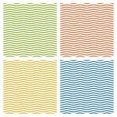 Collection de fond d'ondes multicolores - sans fin — Vecteur