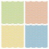Kolekce různobarevné vlny pozadí - nekonečné — Stock vektor
