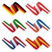 Sammlung von europäischen Land Flagge Banner — Stockvektor