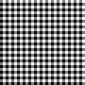 Checkered tablecloths pattern - endless - black — Stockvektor