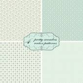 Collection seamless pretty backgrounds — Stock Vector