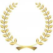 золотой лавровый венок — Cтоковый вектор
