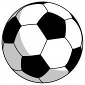 Black-white football - simple vector illustration — Stock Vector