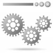 Gears for cooperation symbolism — Stock Vector