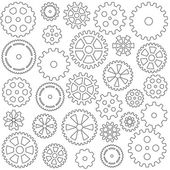 Collection of gears — Stock Vector