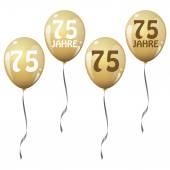 Golden jubilee balloons — Stock Vector