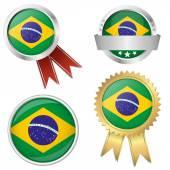 Coleção - ícones do brasil e a comercialização de acessórios — Vetor de Stock