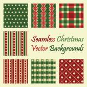 Seamless christmas vector backgrounds — Stock Vector