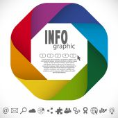 Info graphic colored — Stock Vector