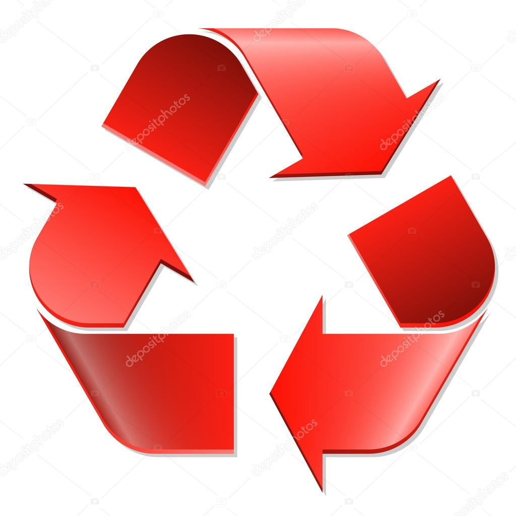 Recycling symbol red — Stock Vector © opicobello #81160226
