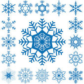 Snow flakes collection — Stock Vector