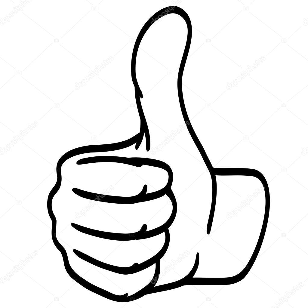 thumbs up silhouette — stock vector © opicobello 87476846