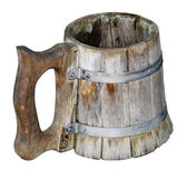Old Isolated handmade beer mug — 图库照片