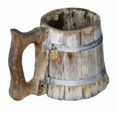 Old Isolated handmade beer mug — Стоковое фото