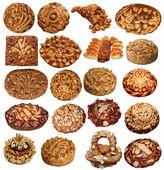 Set of Isolated Ukriinian handmade festive Breads — Стоковое фото