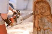 Chainsaw Work — Stock Photo