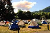 火のキャンプ — ストック写真