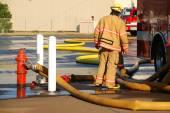 Firefighter Hose — Stock Photo