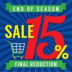 15 Percent End of Season Sale Vector Illustration — Stock Vector #52757673