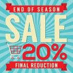 20 Percent End of Season Sale Vector Illustration — Stock Vector #52757677