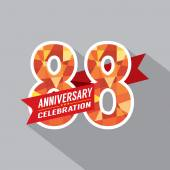88th Years Anniversary Celebration Design — Stock Vector