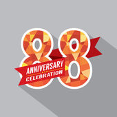88th Years Anniversary Celebration Design — Vector de stock