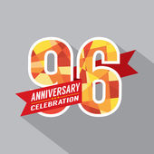 96th Years Anniversary Celebration Design — Wektor stockowy