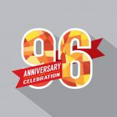 96th Years Anniversary Celebration Design — Vector de stock