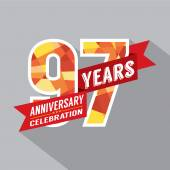 97th Years Anniversary Celebration Design — Stockvector