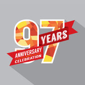97th Years Anniversary Celebration Design — Vector de stock