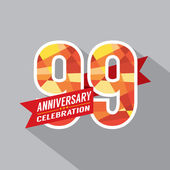 99th Years Anniversary Celebration Design — Stock Vector