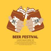 Beer Festival Graphic Vector Illustration — Stock Vector