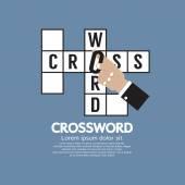 Flat Design Crossword Vector Illustration — Stock Vector