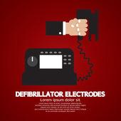 Defibrillator Electrodes Medical Equipment Vector Illustration — Stock Vector