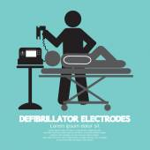 Defibrillator Electrodes Symbol Vector Illustration  — Vector de stock