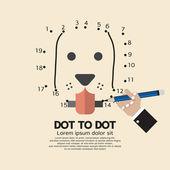 Dot to Dot Animal Games Vector Illustration — Vetorial Stock
