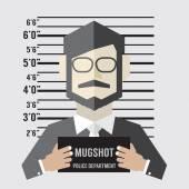 Mugshot Of Businessman Vector Illustration — Stock Vector