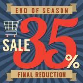 35 Percent End of Season Sale Vector Illustration — Stockvektor