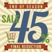 45 Percent End of Season Sale Vector Illustration — Stockvektor