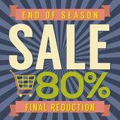 80 Percent End of Season Sale Vector Illustration — Stockvektor