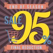 95 Percent End of Season Sale Vector Illustration — Stock Vector
