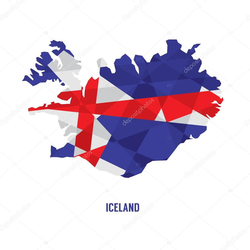 匹配的冰岛矢量图电子地图