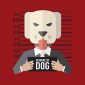 ベクトル図は犬の用心しなさい — ストックベクタ