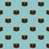 Vintage Gift Boxes Pattern Background Vector Illustration — Stock Vector