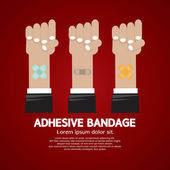 Set of Adhesive Bandage Vector Illustration — Wektor stockowy