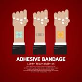 Set of Adhesive Bandage Vector Illustration — Stock vektor