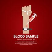 Blood Sample Medical Concept Vector Illustration — Stock Vector