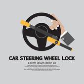 Car Steering Wheel Lock Vector Illustration — Stock vektor